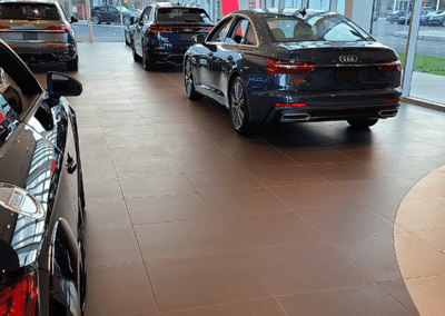 commercial flooring automative audi