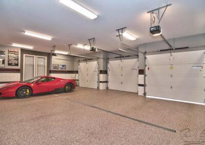 residential custom epoxy garage flooring